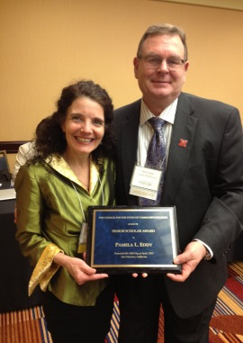 Pamela Eddy, with Brent Cejda, President of the Council for the Study of Community Colleges